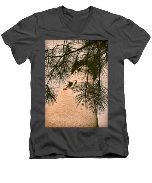 Island Lighthouse Men's V-Neck T-Shirt by JAMART Photography