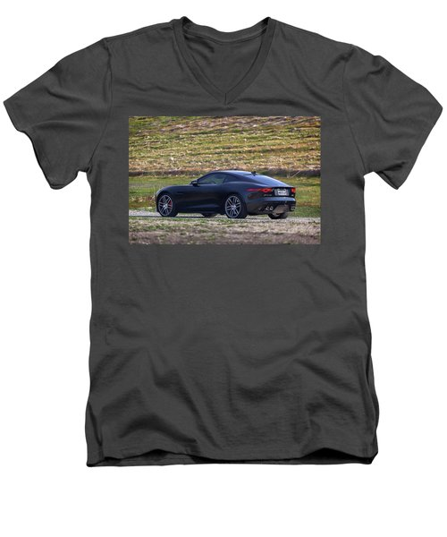 #jaguar #f-type #print Men's V-Neck T-Shirt