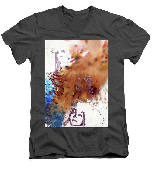Juno Who Men's V-Neck T-Shirt by Ed Heaton