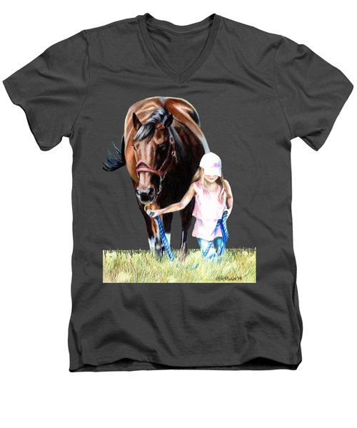 Just A Girl And Her Horse  Men's V-Neck T-Shirt by Shana Rowe Jackson