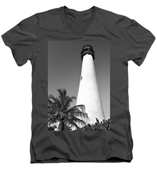 Key Biscayne Lighthouse Men's V-Neck T-Shirt