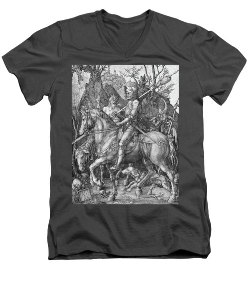Knight Death And The Devil Men's V-Neck T-Shirt