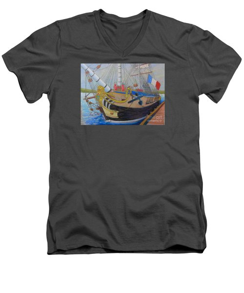 L'hermione Men's V-Neck T-Shirt by Rae  Smith