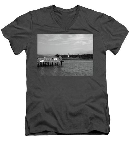 Men's V-Neck T-Shirt featuring the photograph Lubec, Maine by Trace Kittrell