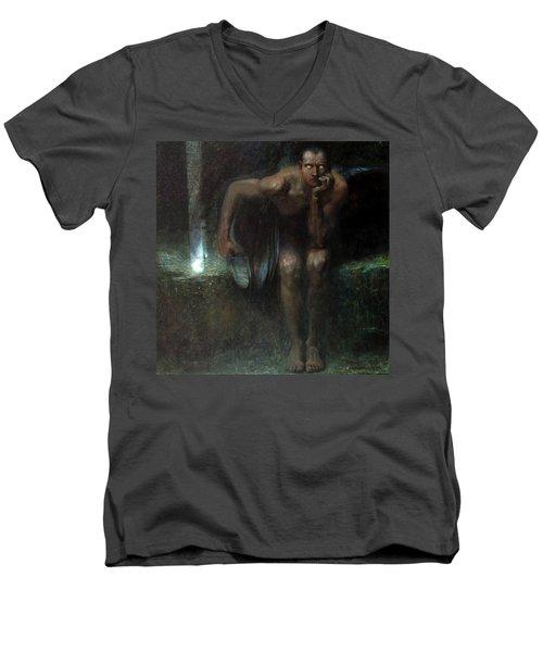 Lucifer Men's V-Neck T-Shirt