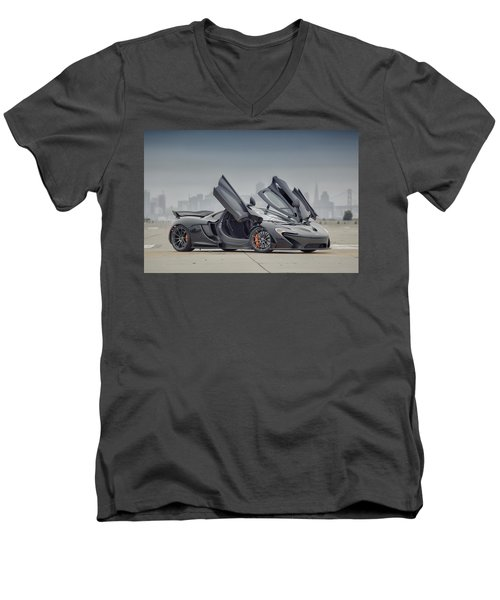 Mclaren P1 Men's V-Neck T-Shirt