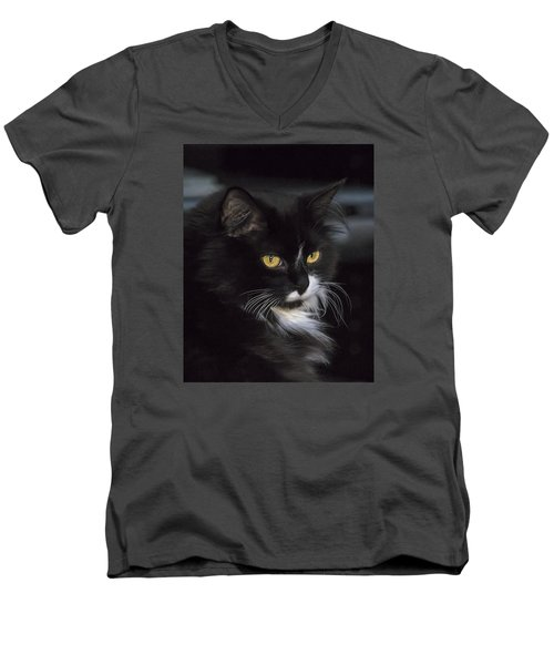 Men's V-Neck T-Shirt featuring the photograph Mitzie by Susi Stroud
