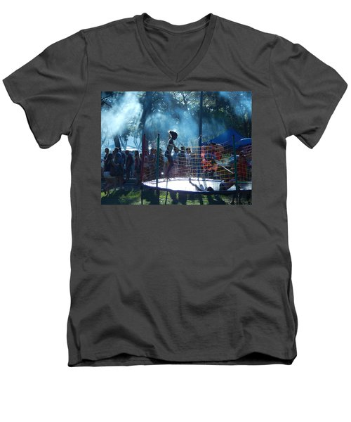 Men's V-Neck T-Shirt featuring the photograph Monday Monday by Beto Machado