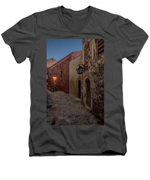 Monemvasia / Greece Men's V-Neck T-Shirt by Stavros Argyropoulos