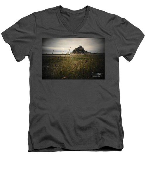 Mont St Michel Men's V-Neck T-Shirt