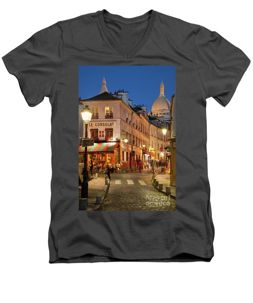Montmartre Twilight Men's V-Neck T-Shirt