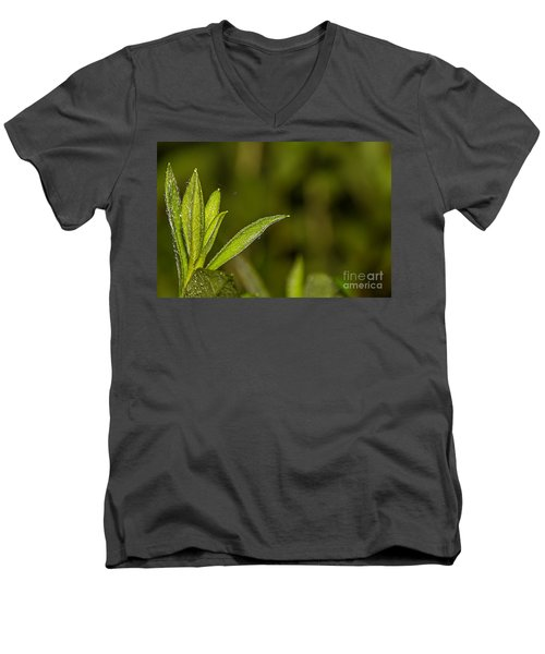 Men's V-Neck T-Shirt featuring the photograph Tightrope by Brian Wright