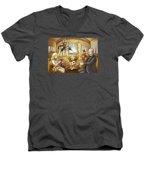 Ned Buntline Men's V-Neck T-Shirt by Reynold Jay