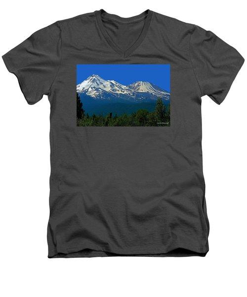 Mt. Shasta Men's V-Neck T-Shirt by Steve Warnstaff