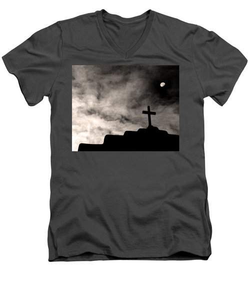 New Mexico Moon Men's V-Neck T-Shirt