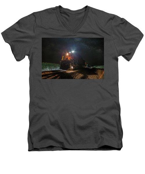 Night Train  Men's V-Neck T-Shirt