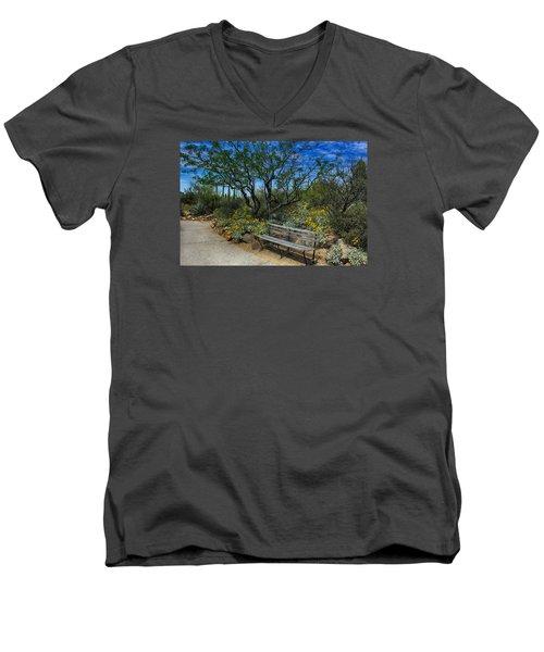 Peaceful Moment Men's V-Neck T-Shirt by Elaine Malott
