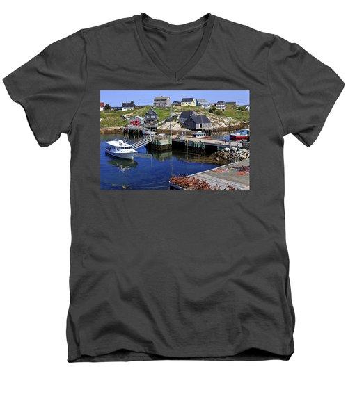 Peggy's Cove, Nova Scotia, Canada Men's V-Neck T-Shirt