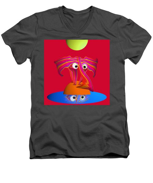 Pink Elephant Men's V-Neck T-Shirt