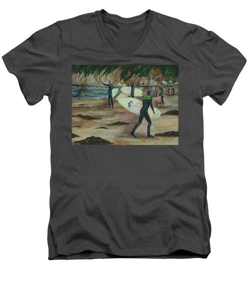 Pismo Beach Men's V-Neck T-Shirt