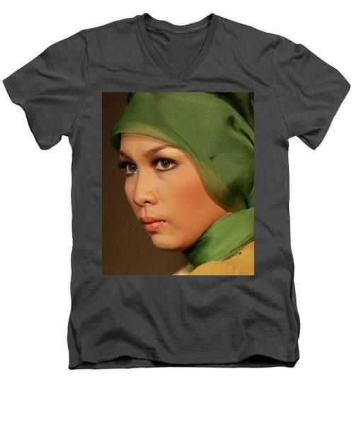 Portrait Men's V-Neck T-Shirt