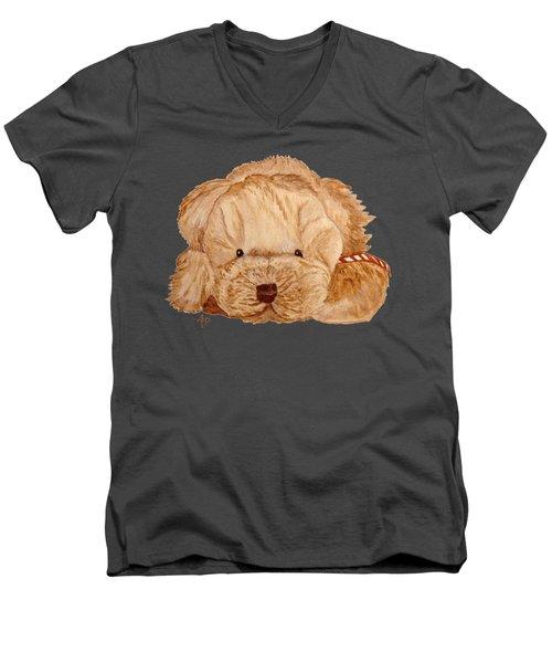 Puppy Dog Men's V-Neck T-Shirt