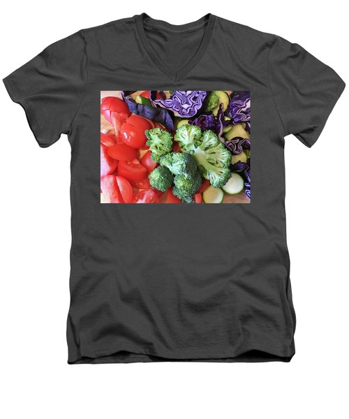 Raw Ingredients Men's V-Neck T-Shirt by Tom Gowanlock