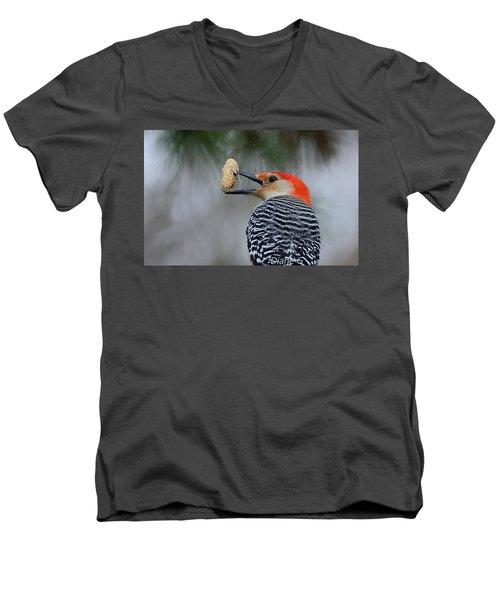 Red-bellied Woodpecker Men's V-Neck T-Shirt by Diane Giurco