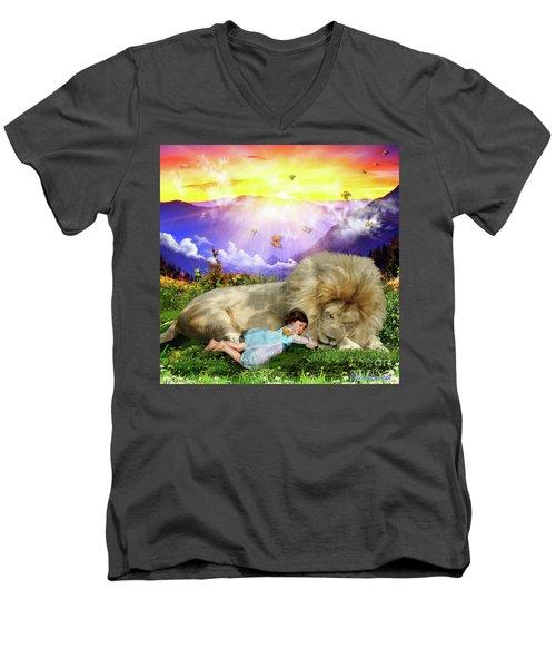 Rest  Men's V-Neck T-Shirt by Dolores Develde