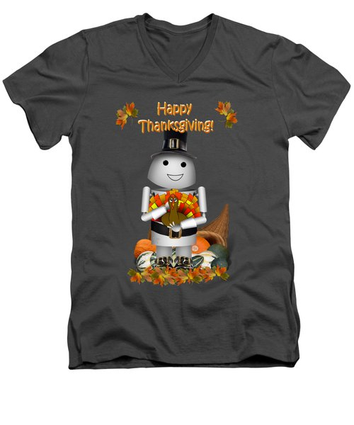Robo-x9 The Pilgrim Men's V-Neck T-Shirt