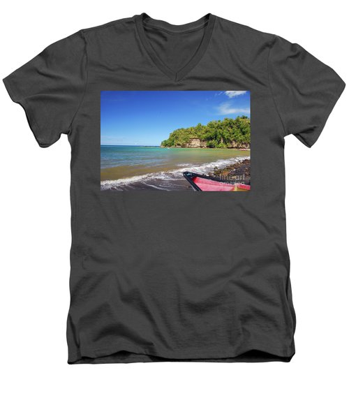 Men's V-Neck T-Shirt featuring the photograph Saint Lucia by Gary Wonning