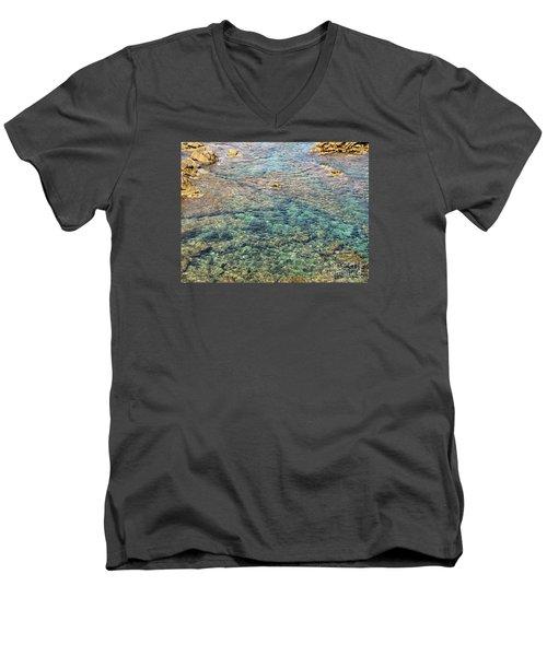 Sea  Men's V-Neck T-Shirt by Yury Bashkin