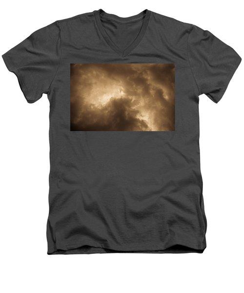 Sepia Clouds Men's V-Neck T-Shirt