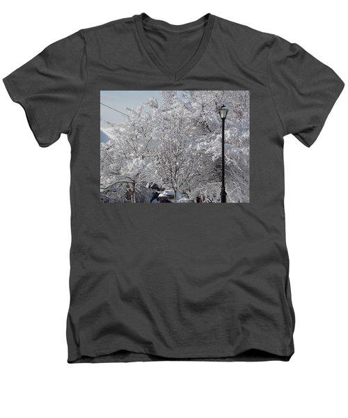 Snow Covered Trees Men's V-Neck T-Shirt by Catherine Gagne