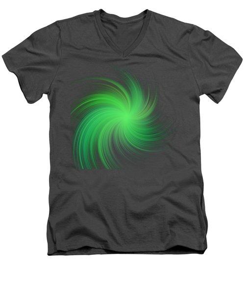 Spiral Men's V-Neck T-Shirt by Michal Boubin