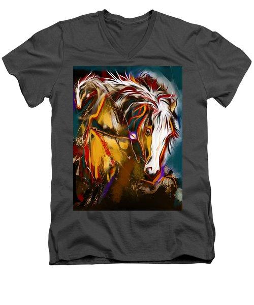 2 Spirit Knights Men's V-Neck T-Shirt