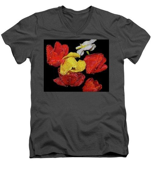Men's V-Neck T-Shirt featuring the photograph Spring Flower by Elvira Ladocki