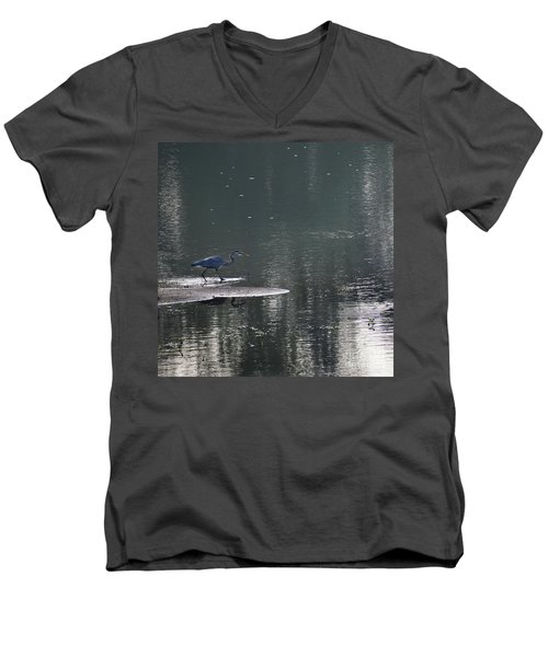 Men's V-Neck T-Shirt featuring the photograph Stalker  by Skip Willits