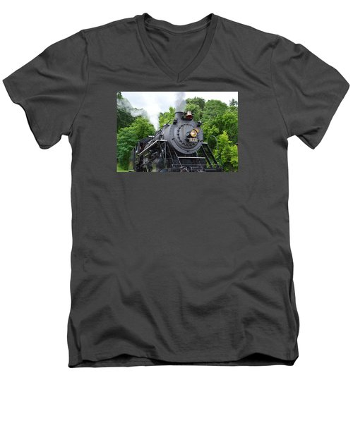 Steam Engline Number 630 Men's V-Neck T-Shirt