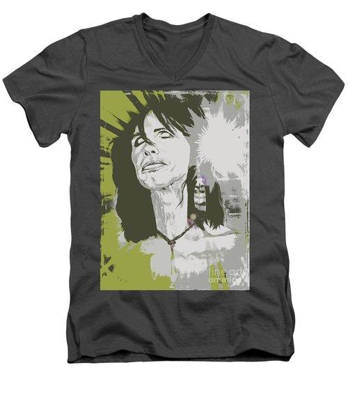 Steven Tyler  Men's V-Neck T-Shirt by Jeepee Aero