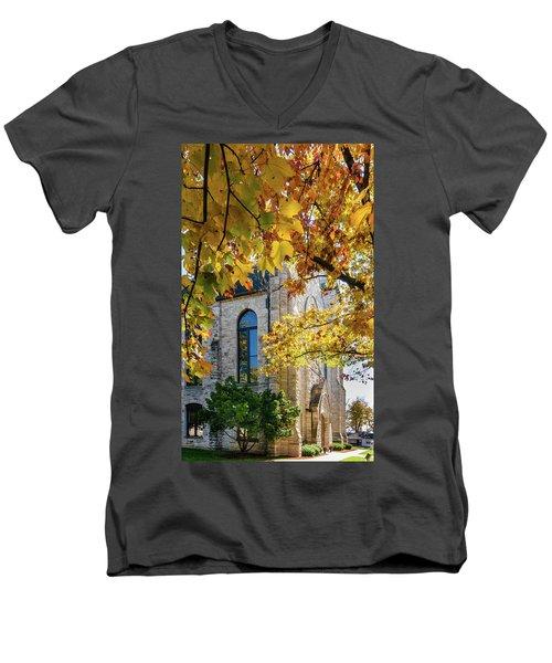 Stone Chapel Fall Men's V-Neck T-Shirt