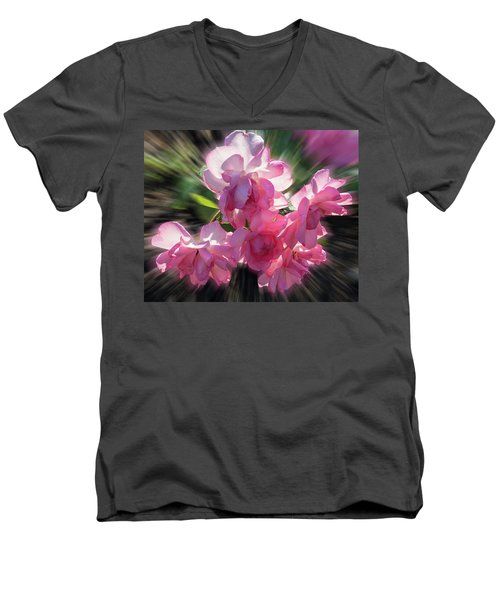 Men's V-Neck T-Shirt featuring the photograph Summer Flowers by Vladimir Kholostykh