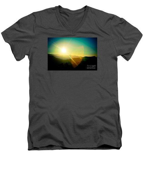 Sunrise In Himalayas Artmif Photo Raimond Klavins Men's V-Neck T-Shirt