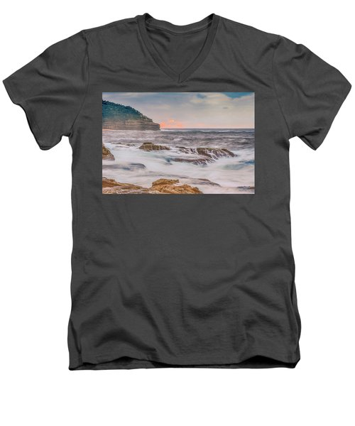 Sunrise Seascape And Headland Men's V-Neck T-Shirt