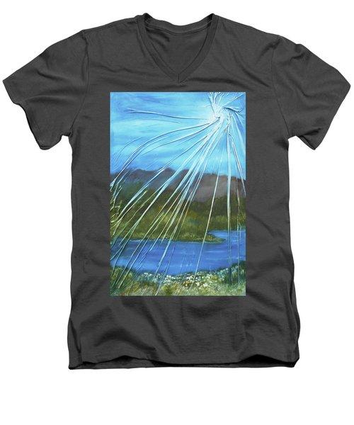 Sunshine Over Boise Men's V-Neck T-Shirt