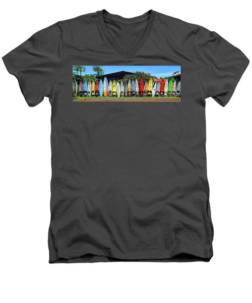 Surfboard Fence Maui Hawaii Men's V-Neck T-Shirt