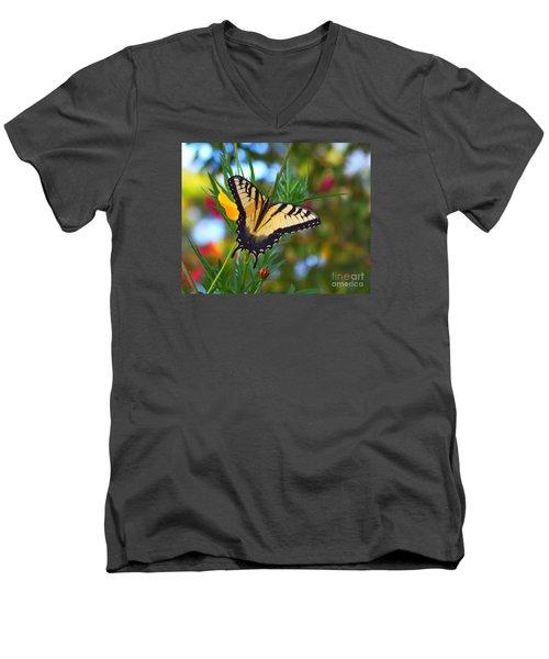 Swallowtail Butterfly Men's V-Neck T-Shirt