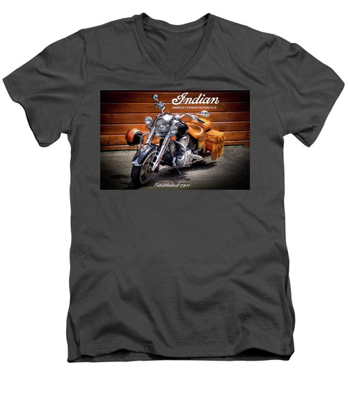The Indian Motorcycle Men's V-Neck T-Shirt by David Patterson