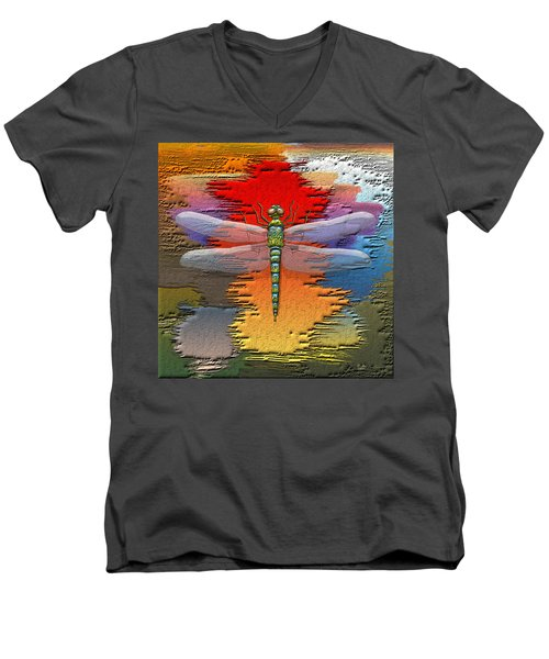 The Legend Of Emperor Dragonfly Men's V-Neck T-Shirt by Serge Averbukh