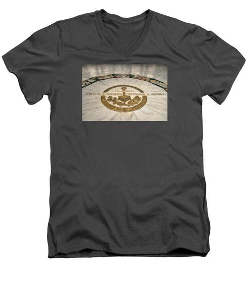 Men's V-Neck T-Shirt featuring the photograph The Mural by Mark Dodd